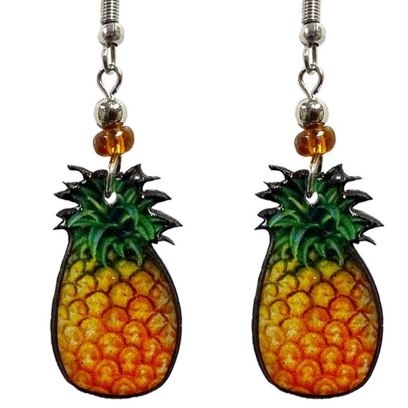 Peru Designs Jewelry - Pineapple Earrings Handmade Fun Unique Great Gift